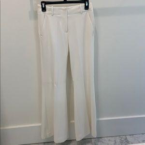 Jennifer Lopez Off White Lined Pants